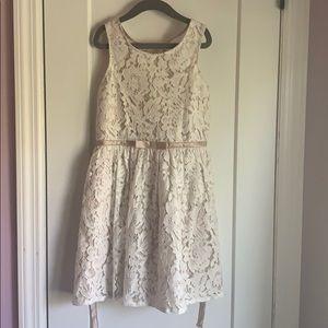Cream beige children's dress